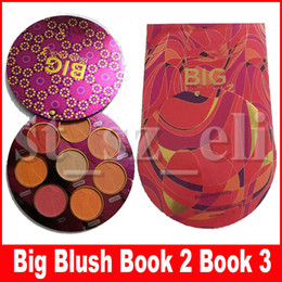 big eyeshadow palettes Canada - Eye Face Makeup Big Blush Book 2 Book 3 blush eyeshadow pressed Powder palette 8 colors Blushes & Highlighter Limited Edition Cosmetic