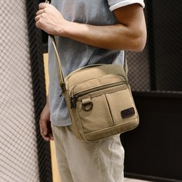 small canvas crossbody bag NZ - Heflashor Solid Men Small Bolso Hombre Crossbody Bags For Men Travel Shoulder Bags canvas Messenger Large Capacity