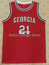 $enCountryForm.capitalKeyWord Australia - high quality #21 Dominique Wilkins Georgia Bulldogs Basketball Jersey red Stitched Customized Any Name And Number Jersey XS-6XL vest Jerseys