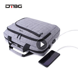 nylon briefcases men UK - Dtbg Laptop Bags For Man Women Large Capacity Briefcase Work Bag Business Trip File Package Laptop Bag For 15.6 Inch Computer Y19051802