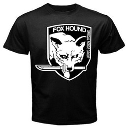 Neck Gear Australia - Fox Hound Metal Gear Solid old classic retro game T-Shirt Black Basic Tee Mens 2018 fashion Brand T Shirt Tops O-Neck 100%cotton T-Shirt