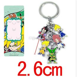 classic alloy NZ - 5set 2style Dragon Ball Z Key Chain Piccolo Jr. Vegeta Super Saiyan Son Goku Cartoon Keychains Pendants Zinc Alloy Keyrings Lovely Gift Toys