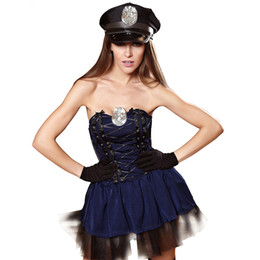 Discount sexy police woman costumes - New Arrival Adult Sexy Cop Costume Traffic police Uniform Halloween Policewomen Cosplay Fancy Dress Girl Cute Police Tut