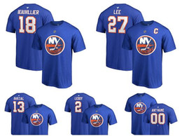 69bf8e3a611 Custom Men's New York Islanders Fanatics Branded Royal Authentic Stack  Primary Logo Name & Number T-Shirt