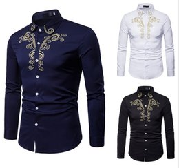 $enCountryForm.capitalKeyWord Australia - New Men's Shirts Mens Business Casual Shirt Men Dress Shirts Long Sleeved Retro Shirt Court Embroidery