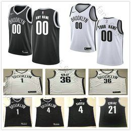 920331624 Screen Printed Custom Brooklyn 30 Dzanan Musa 00 Rodions Kurucs 21 Treveon  Graham 10 Theo Pinson 15 Alan Williams Nets Basketball Jersey