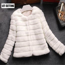 short hair rabbit UK - LET-SETTING hot sale new winter rabbit hair Korean Slim Leather grass short plush coat large size women CJ191128