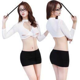 0b469fb61c Sexy women Secretary coStume online shopping - New sexy lingerie sense  secretary uniform temptation role playing