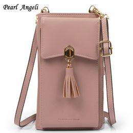$enCountryForm.capitalKeyWord Australia - Pearl Angeli Women Wallet Small Crossbody Bag Credit Card Holder RFID Female Purse Cellphone Pouch Coin Pocket Shoulder Strap