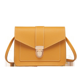 small shoulder purses for girls 2020 - Fashion Small Crossbody Bags For Women 2019 Mini PU Leather Shoulder Messenger Bag For Girl Yellow Ladies Phone Purse ch