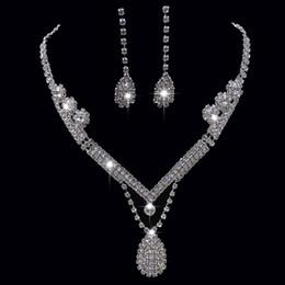 Rhinestone Star Ring Australia - 2019 New Arrival Rhinestone Wedding Jewelry Sets Bridal Long Tassel Designer Necklace Diamond Earrings Set Accessories