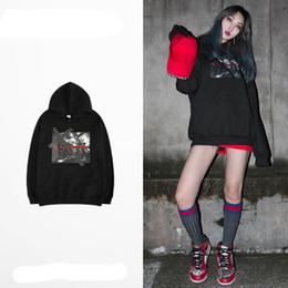 South Korea Velvet Australia - spring autumn South Korea hip hop street dance national tide letter printing men women sweater hoodie dark loose plus velvet Women's Hoodies