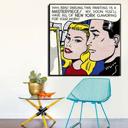 Life Size Figures Australia - Roy Lichtenstein Masterpiece High Quality Hand Painted & HD Print Portrait Wall Art Oil Painting On Canvas Home Decor Multi sizes Ry08