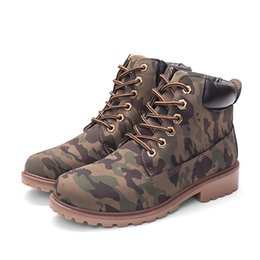 2020 Hot New Autumn Early Winter Shoes Women Flat Heel Boots Fashion Keep warm Women's Boots Brand Woman Ankle Botas Camouflage