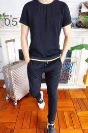 $enCountryForm.capitalKeyWord Australia - 19 summer new round neck luxury fashion suit luxury designer design custom fabric feel soft and comfortable type sweat-absorbent breathable