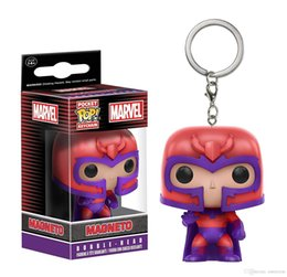 $enCountryForm.capitalKeyWord Australia - Good Wholesale price Funko Pocket POP Keychain - X-Men Magneto Vinyl Figure Keyring with Box Toy Gift for kids Good Quality fast payment