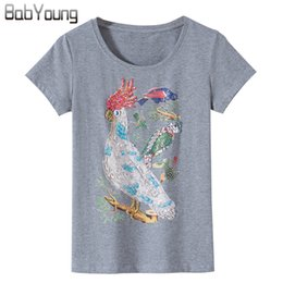 9f1ace999805 Parrot Print t shirt online shopping - BabYoung Summer New T Shirts Women  Cotton Tee Fashion