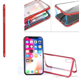$enCountryForm.capitalKeyWord NZ - Hot Sale Metal Magnetic Adsorption Phone Cases for iPhone X XS MAX 8 7 Plus Double Side Clear Tempered Glass Magnet Ultra-thin Phone Cover