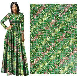 Good Quality Dress Fabric Australia - Ankara African Green Wax Prints Fabric Good-Fabric new Hollandais Wax High Quality African Fabric For Party Dress