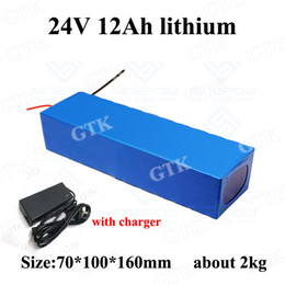 24v scooter charger NZ - GTK 24v 12ah lithium ion battery 3s BMS 3.7v li-ion bateria 18650 24v 12ah for 350w Elderly scooter e bike bicycle+ 2A charger
