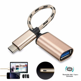 universal micro usb otg cable Australia - 500pcs lot Micro USB Cable USB 3.1 Type-C USB-C OTG Cable USB3.1 Male to USB2.0 Type-A Female Adapter Cord Charging mobile phone