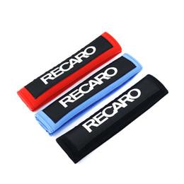 Опт 1 пара JDM Recaro красный / черный хлопок авто ремень безопасности крышка плечевой ремень колодки для Honda гоночный автомобиль ремень безопасности