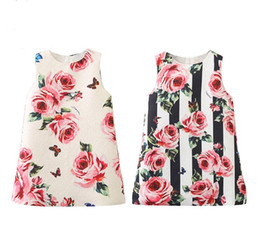 $enCountryForm.capitalKeyWord Australia - Sleeveless Girls Summer Dress Brand label Kids Dresses for Girls Clothing Floral Brand Princess Dress for Party Baby Girl Clothes