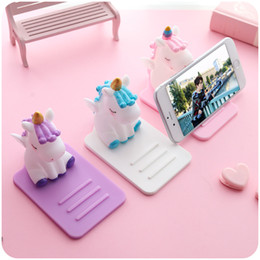 Lazy tabLet stand online shopping - Kawaii Cartoon Unicorn Lazy Phone Holder Bracket Mount Tablet Desktop Stand for iPhone Samsung Huawei Adjustable