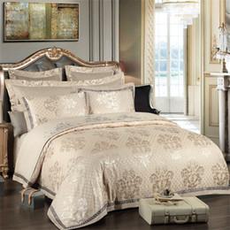 $enCountryForm.capitalKeyWord Australia - Floral Jacquard Bedding Set Queen King Size 200 230 220 240 Duvet Cover Bed Sheet Pillowcase Home Textiles