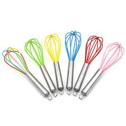 Gadgets Utensils Australia - Very Sturdy Kitchen Whisk Silicone Balloon Wire Whisk Set Egg Beater Milk Frother Kitchen Utensils Gadgets