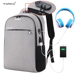 $enCountryForm.capitalKeyWord Australia - Wangka Usb Charging Laptop Backpack 15.6 Inch Anti Theft Women Men School Bags For Teenage Girls College Travel Backpack Nylon Y19061004