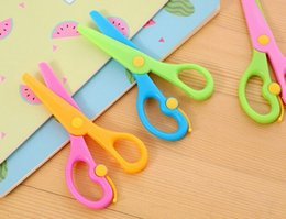 Plastic Scissors Safety Round Head Scissors For Kids Students Paper Cutting Supplies For Kindergarten School Durable Modeling Cutting Supplies Scissors
