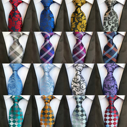 Animal Handmade Canada - 295 Styles 8cm Men Silk Ties Fashion Mens Neck Ties Handmade Wedding Tie Business Ties England Paisley Tie Stripes Plaids Dots Necktie