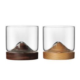 $enCountryForm.capitalKeyWord Australia - Home Kitchen Mountain Wooden Bottom Irish Transparent Glass Cup For Whiskey Wine Vodka Bar Club Scotch Lover Q190606