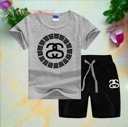 $enCountryForm.capitalKeyWord Australia - 2020 Children Sets 1-8T Kids T-shirt And Short Pants 2Pcs sets Baby Boys Girls 95% Cotton Diamond Design Printing Style Summer Sets