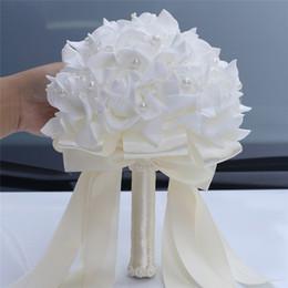 Pearl bouquets online shopping - WifeLai A Cheapest PE Rose Bridesmaid Wedding Foam Flowers Rose Bridal Bouquets Pearls Beaded Wedding Bouquet De Noiva W2017E