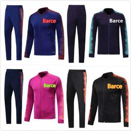 2018 Nuevo traje de entrenamiento del FC Barcelona Camiseta de fútbol de  manga larga 18 19 Barcelona Chándal de fútbol 10 Messi Suárez 9 DEMBELE a65f0b9bf40d4
