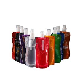 water bottle bags Australia - Plastic Folding Water Bag Transparent Pure Color Waters Bottle Outdoor Sport Multi Colors Cup New Arrival 1 6lg L1