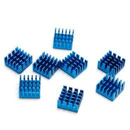 Discount ddr motherboards - 2018 Hot 8 pcs 1 set Blue Aluminium Heatsink For Motherboard DDR VGA RAM Memory IC Chipset Cooler 15 x 15 x 8mm