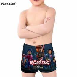 15c1a106a3c INSTANTARTS 2019 New Boys Swimsuits Hot Game Roblox Print Swimming Wear for  Children Baby Kids Bathing Beach Trunks 5-14 Years