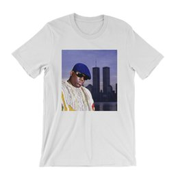 biggie shirts NZ - Notorious Big T Shirt Twin Towers New York City Hip Hop Rap Tee B.I.G. Biggie Full-Figured Tee Shirt