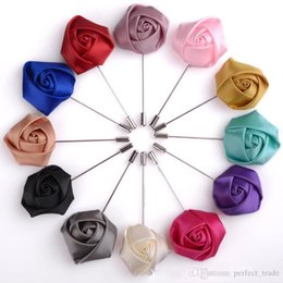 wholesale brooches offers Canada - Fashion Rose Brooch Pin Classic Mens Designer Brooches Handmade Fabric Brooches Corsage Accessories Gift Special Offer