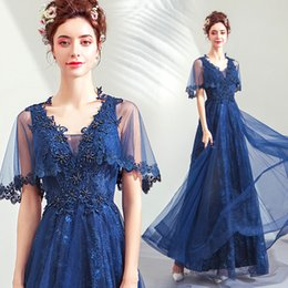 $enCountryForm.capitalKeyWord Australia - Vintage Lace 2019 Evening Dresses V-neck A-line Beaded Sexy Prom Dresses Cheap Elegant Formal Party Bridesmaid Gowns