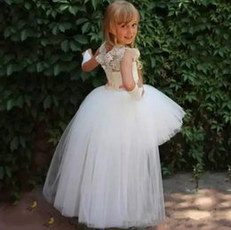 $enCountryForm.capitalKeyWord Australia - Flower Girl Dresses Jewel Big Bowl Lace Applique Girls Pageant Dresses For Toddlers Children A Line Kids Birthday Dress