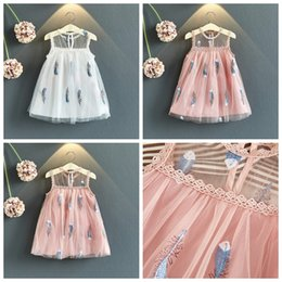 Ball skirt casual online shopping - Baby girls princess lace tutu skirts white and pink color girl summer boutiques clothing kids veil mesh dresses