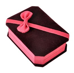 Velvet Box Packaging Australia - Velvet Jewelry Box for Necklace Storage Case Square Packaging Rangement Bijoux Gift Boxes Portable Women Display Travel Case