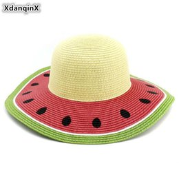 ElEgant straws online shopping - XdanqinX Novelty Elegant Adult Women s Sun Hats Hand Crocheted Lady Straw Hat Foldable Beach Hat Flower Decoration Female Caps
