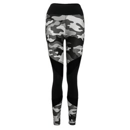 22c2fce42 yoga trousers 2019 hot new tights with cutout Women Fashion High Elasticity  Spliced Camouflage Leggings Gym Active Pants print  812022