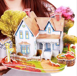 $enCountryForm.capitalKeyWord Australia - Children's handmade creative diy 3d jigsaw puzzle house assembled building model educational toys