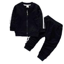 $enCountryForm.capitalKeyWord UK - Fashion Spring Autumn Baby Boys Girls Cotton Jacket Pants 2pcs sets Infant Tracksuit Kids Clothing Suts Children Zipper Clothes
